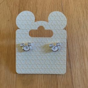 NEW Disney World White Mouse Earrings